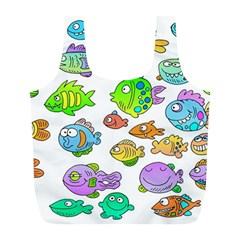 Fishes Col Fishing Fish Full Print Recycle Bags (l)  by AnjaniArt