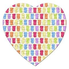 Gummibears Candy Jigsaw Puzzle (Heart) by AnjaniArt