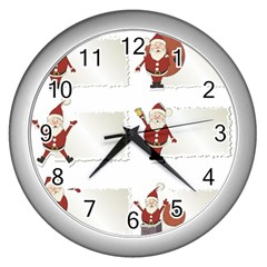 Images Natale Pinterest Christmas Clipart Reindeer Wall Clocks (silver)  by AnjaniArt