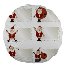 Images Natale Pinterest Christmas Clipart Reindeer Large 18  Premium Flano Round Cushions by AnjaniArt