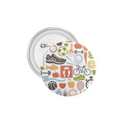 Health Habits Attitudes Hispanic Studied Sport 1 75  Buttons by AnjaniArt