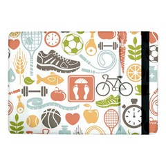Health Habits Attitudes Hispanic Studied Sport Samsung Galaxy Tab Pro 10 1  Flip Case by AnjaniArt