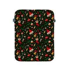 Hat Merry Christmast Apple Ipad 2/3/4 Protective Soft Cases by AnjaniArt