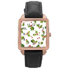 Images Paper Christmas On Pinterest Stuff And Snowflakes Rose Gold Leather Watch  by AnjaniArt