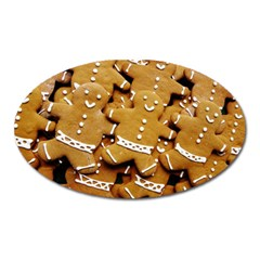 Gingerbread Men Oval Magnet