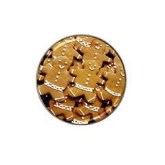 Gingerbread Men Hat Clip Ball Marker by AnjaniArt