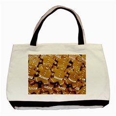 Gingerbread Men Basic Tote Bag by AnjaniArt