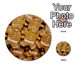 Gingerbread Men Multi Purpose Cards (round)  by AnjaniArt
