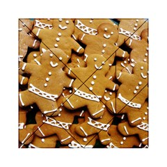 Gingerbread Men Acrylic Tangram Puzzle (6  X 6 ) by AnjaniArt