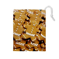 Gingerbread Men Drawstring Pouches (large)