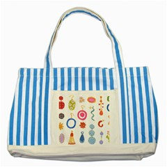 Interior Striped Blue Tote Bag by AnjaniArt
