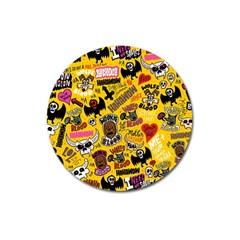 Lolzig Pattern Magnet 3  (round) by AnjaniArt