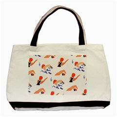 Olympics Swimming Sports Basic Tote Bag by AnjaniArt
