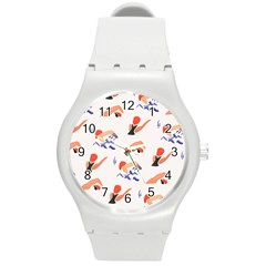 Olympics Swimming Sports Round Plastic Sport Watch (m) by AnjaniArt