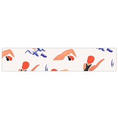 Olympics Swimming Sports Flano Scarf (small) by AnjaniArt