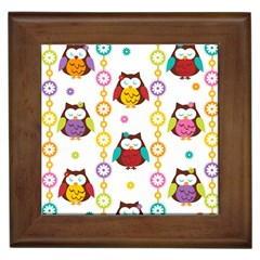 Owl Framed Tiles