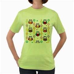 Owl Women s Green T Shirt