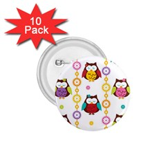 Owl 1 75  Buttons (10 Pack)