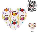 Owl Multi-purpose Cards (Heart)  Back 32