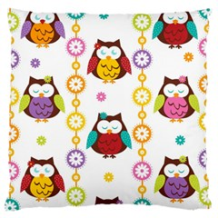 Owl Large Cushion Case (one Side) by AnjaniArt