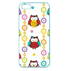 Owl Apple Seamless Iphone 5 Case (color) by AnjaniArt