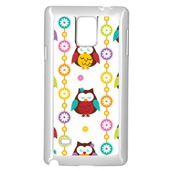 Owl Samsung Galaxy Note 4 Case (white) by AnjaniArt