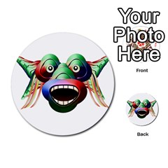 Futuristic Funny Monster Character Face Multi Purpose Cards (round)  by dflcprints