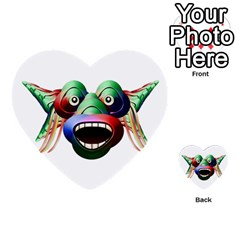 Futuristic Funny Monster Character Face Multi Purpose Cards (heart)  by dflcprints