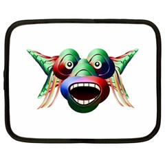 Futuristic Funny Monster Character Face Netbook Case (large) by dflcprints