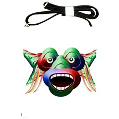 Futuristic Funny Monster Character Face Shoulder Sling Bags by dflcprints