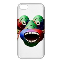 Futuristic Funny Monster Character Face Apple Iphone 5c Hardshell Case by dflcprints