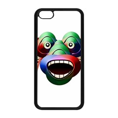 Futuristic Funny Monster Character Face Apple Iphone 5c Seamless Case (black) by dflcprints