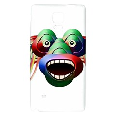 Futuristic Funny Monster Character Face Galaxy Note 4 Back Case by dflcprints