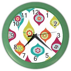 Ornaments Color Wall Clocks by AnjaniArt