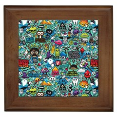 Monster Framed Tiles by AnjaniArt