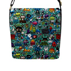 Monster Flap Messenger Bag (l)  by AnjaniArt