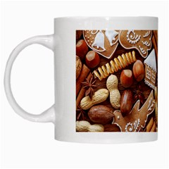 Nuts Cookies Christmas White Mugs