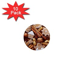 Nuts Cookies Christmas 1  Mini Magnet (10 Pack)  by AnjaniArt