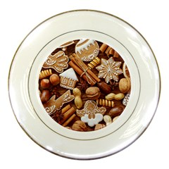 Nuts Cookies Christmas Porcelain Plates by AnjaniArt