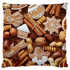 Nuts Cookies Christmas Standard Flano Cushion Case (two Sides) by AnjaniArt