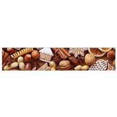 Nuts Cookies Christmas Flano Scarf (small) by AnjaniArt