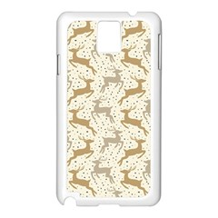 Paper Gift Deer Samsung Galaxy Note 3 N9005 Case (white) by AnjaniArt