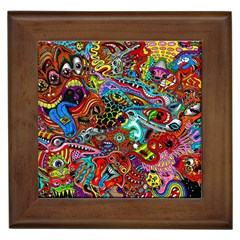 Moster Mask Framed Tiles by AnjaniArt