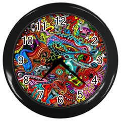 Moster Mask Wall Clocks (black) by AnjaniArt