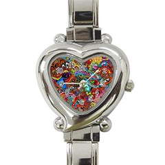 Moster Mask Heart Italian Charm Watch by AnjaniArt