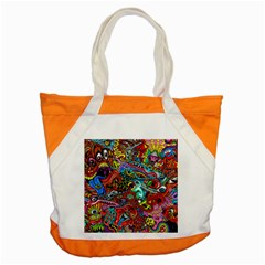 Moster Mask Accent Tote Bag by AnjaniArt