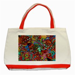 Moster Mask Classic Tote Bag (red) by AnjaniArt