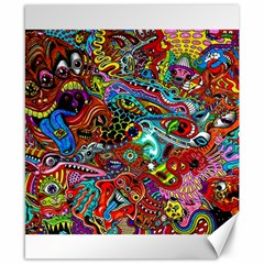 Moster Mask Canvas 8  X 10  by AnjaniArt