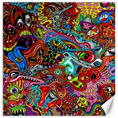 Moster Mask Canvas 16  X 16   by AnjaniArt