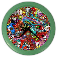 Moster Mask Color Wall Clocks by AnjaniArt